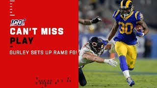 Todd Gurley Leads Rams Into FG Range for First Score of Game