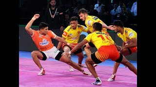 Pro Kabaddi 2018: Puneri Paltan vs Gujarat Fortune Giants Highlights [Hindi]