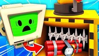 NEW Shredding Job Bot's SECRET TNT BOMB (Job Simulator VR Funny Gameplay)
