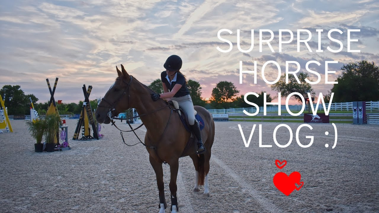 Surprise Horse Show Vlog! (World Equestrian Center) || leaandbellagrace