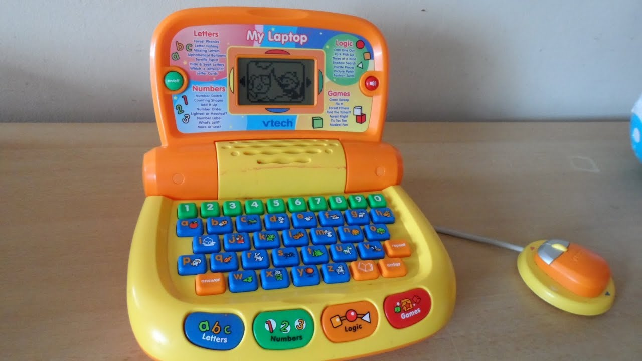Overview of VTech Orange laptop phonics puter to Learn English