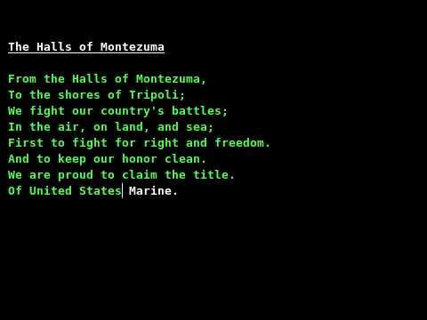 Marines Hymn The Halls of Montezuma w lyrics