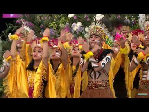 Tari Muda Mudi Papua Misi Budaya Al-Izhar Llangollen 2018