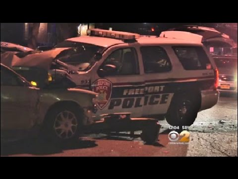 Freeport Cop Car Stolen, Wrecked