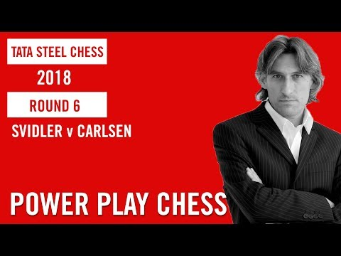 Tata Steel Chess 2018 Round 6 Peter Svidler v Magnus Carlsen