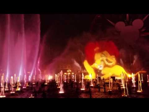 Full World of Color light show from front row of Preferred Dining section