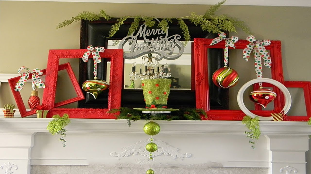 Christmas Hearth Decorations.2017 Christmas Mantel Decorations 3