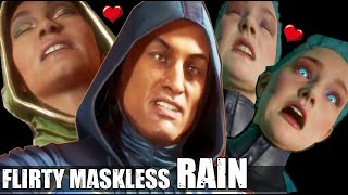 Rain FLIRTS & Roasts Everyone ( Who Roasts & Teases Rain the Best? - All Intro Dialogues MK 11 )