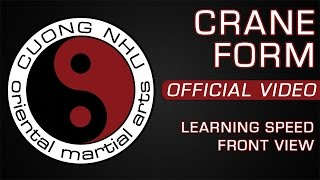 Cuong Nhu Crane Form - Official Kata - Learning Speed - Front View