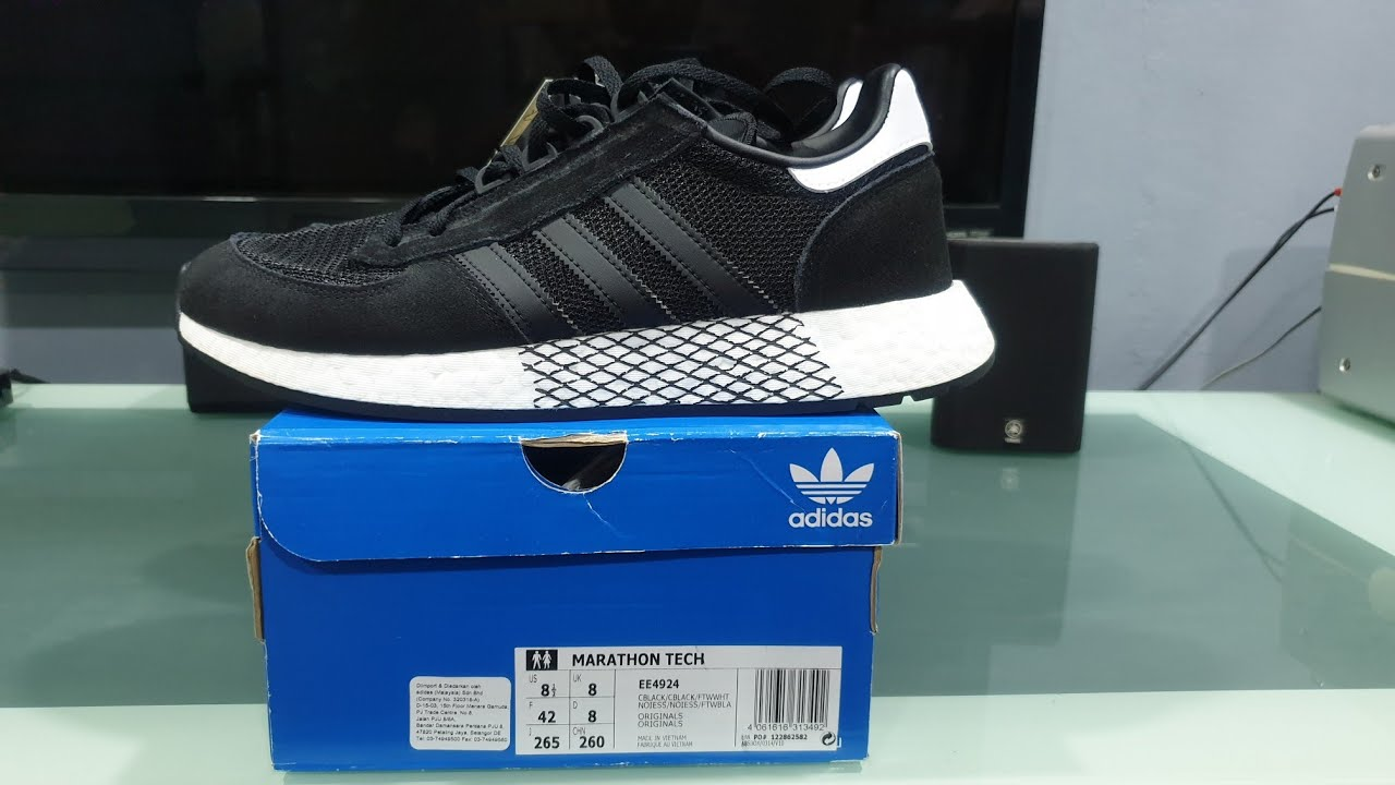 amanecer lecho Lluvioso  Unboxing Original Adidas Marathon Tech EE4924 - YouTube
