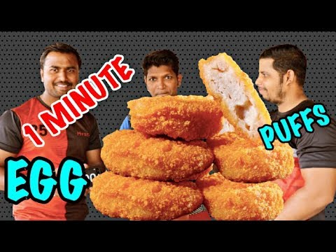 1 MINUTE EGG PUFF EATING CHALLENGE || 15 EGG PUFFS ON THE LINE || ONE MINUTE CHALLENGE EPISODE 2