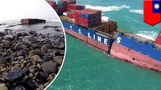 Taiwan: Wrecked cargo ship spills tons of oil into sea near New Taipei City - TomoNews