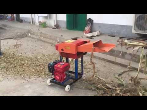 Mini scale chaff cutter,grass cutter,forage chopper powered by gasoline engine