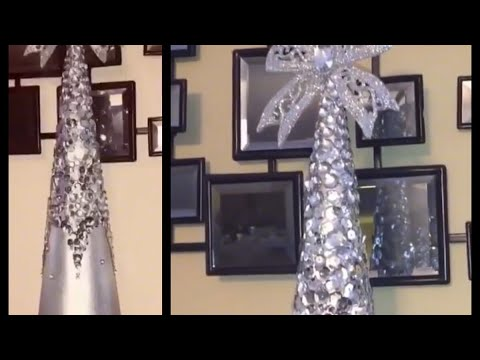 Glam DIY | Sequins and Bling Christmas Cone Decor | 2017 Re-Upload