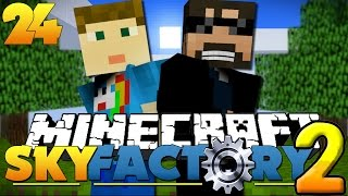Minecraft SkyFactory 2 - PINK COBBLE STONE!! [24]