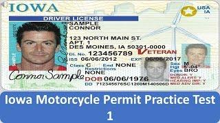 Iowa Motorcycle Permit Practice Test 1
