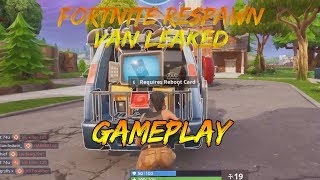 *NEW* RESPAWN Van Fortnite *LEAKED GAMEPLAY* On Stream