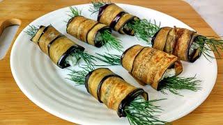Улетные рулетики из баклажанов и сыра Рецет вкусной закуски