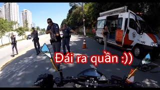 Những pha đái ra quần Biker nước ngoài vs Cảnh sát