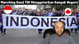 Download lagu Marching Band TNI Menggetarkan Banyak Negara | Indonesia Reaction | MR Halal Reacts