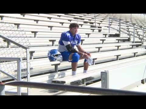 New Braunfels football player overcomes tough upbringing to thrive with Unicorns