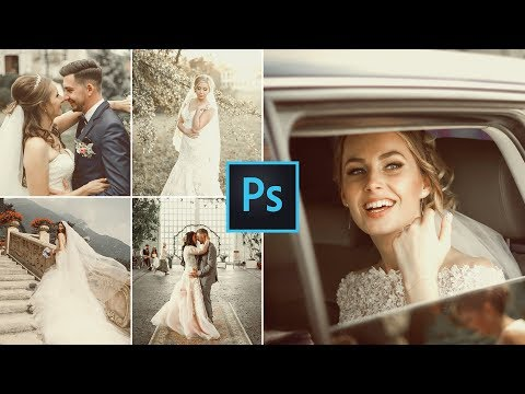 Vintage Faded Wedding Color Grading Effect In Photoshop