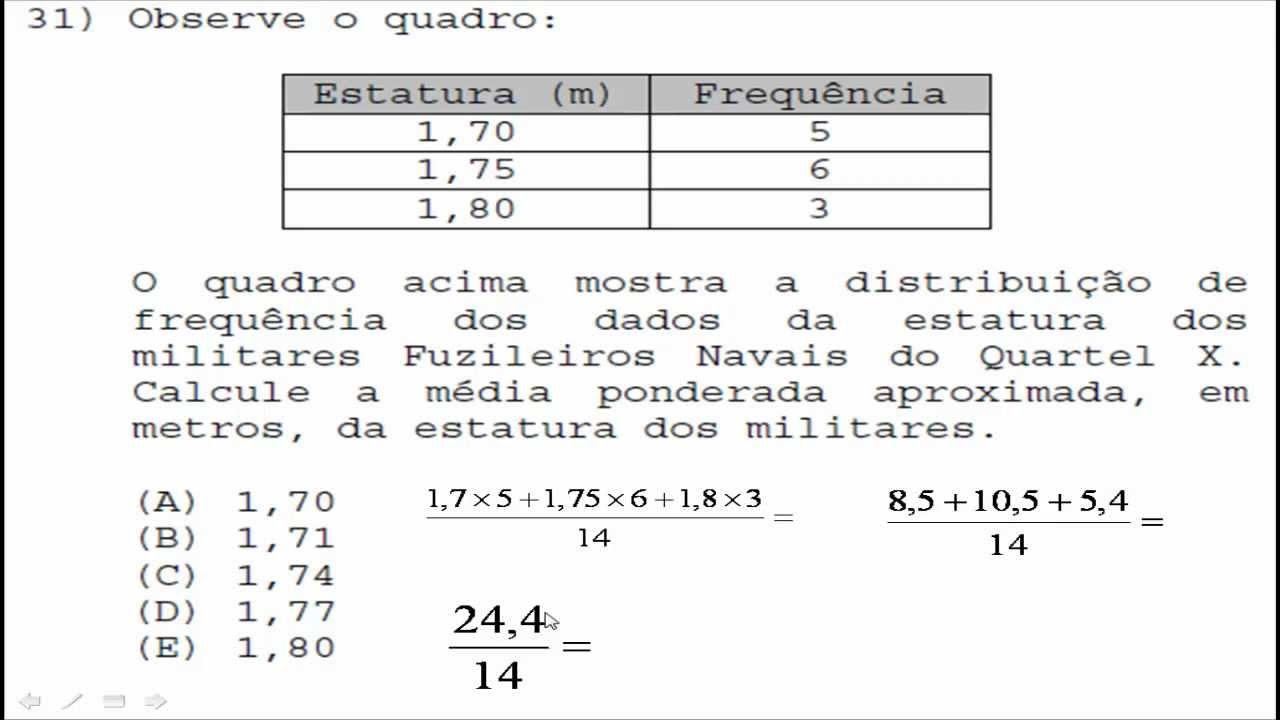 provas anteriores de fuzileiro naval
