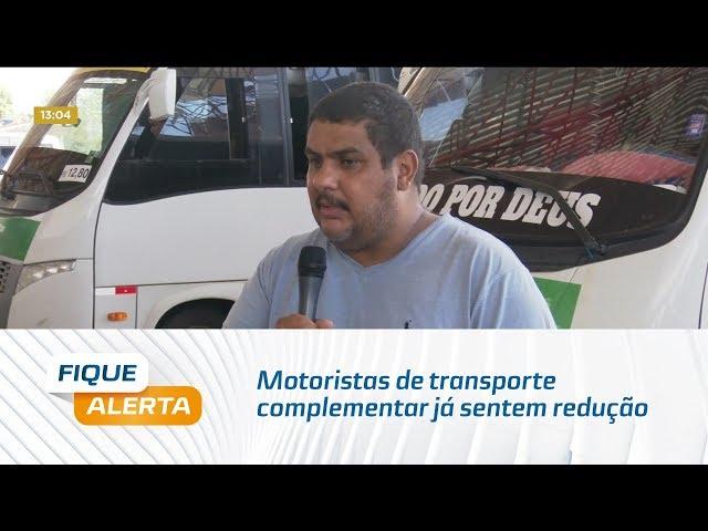 Coronavírus: Motoristas de transporte complementar já sentem redução de passageiros