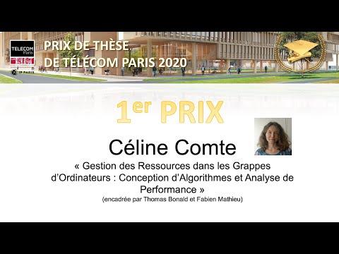 Le Prix de Thèse 2020 de Télécom Paris. 1er prix : Céline Comte