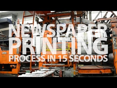 Newspaper Printing Process in 15 Seconds ft. Centre Daily Times