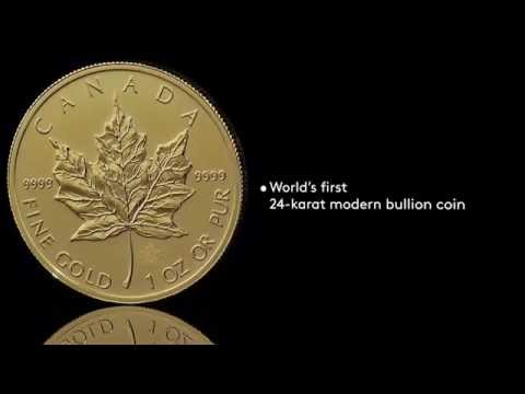 Canadian Gold Maple Leaf Bullion Coin 2014 - HD