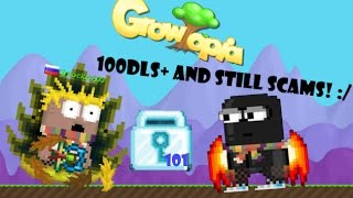 Growtopia| He has 100 DLS+ and still SCAMS! [You wont believe what got scamed]