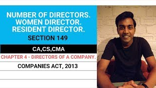 NUMBER OF DIRECTORS, WOMEN DIRECTOR, RESIDENT DIRECTOR (SECTION 149)|COMPANIES ACT,2013|