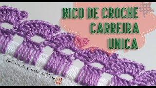 Bico de Crochê Carreira Única – Fácil