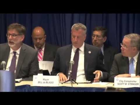 Mayor de Blasio Discusses the City's Financial Plan at the NY State Financial Control Board