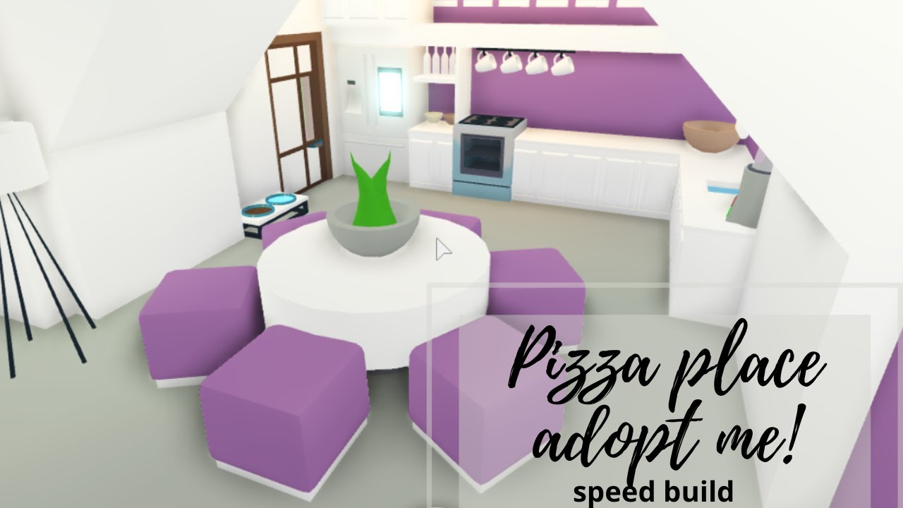 Robloxwork At Pizza Place House Tour Youtube Adopt Me Pizza Place Speed Build Youtube