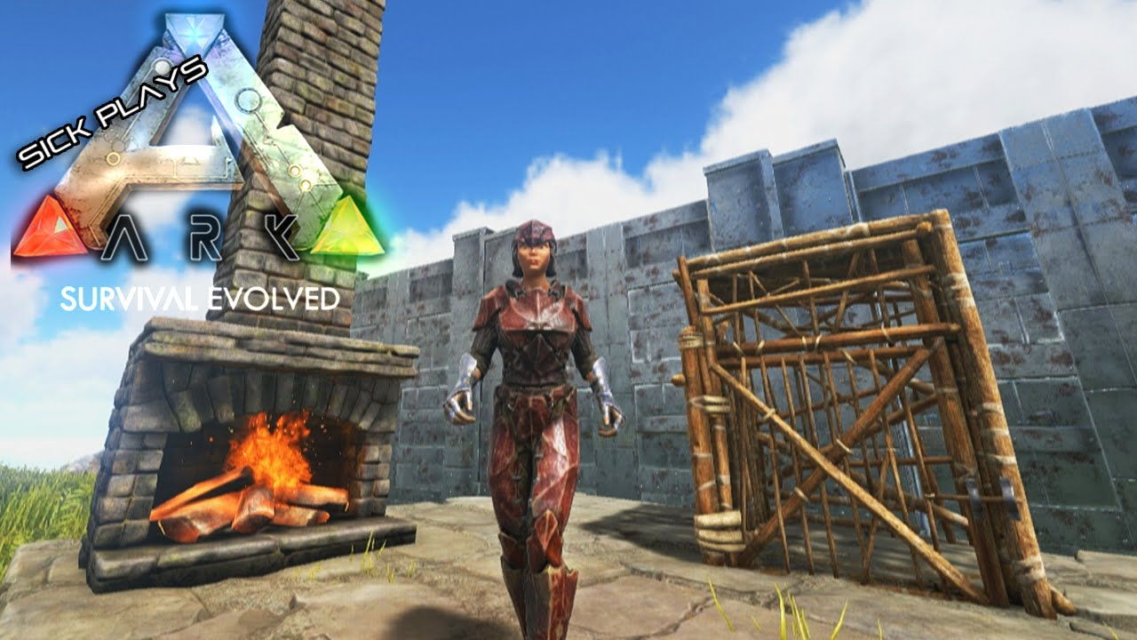 ARK Survival Evolved - Fireplace - Wooden Cage - Irrigated ...