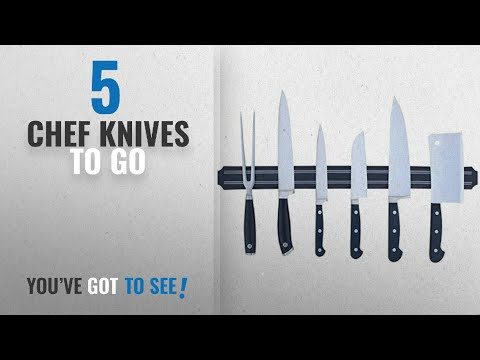 Top 10 Chef Knives To Go [2018]: J Go Wall Mount Magnetic Knife Storage Holder Chef Rack Strip