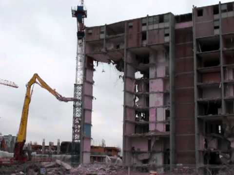Demolition, Maisonette Towers in Regent Park Toronto, Peter Dickinson Architect