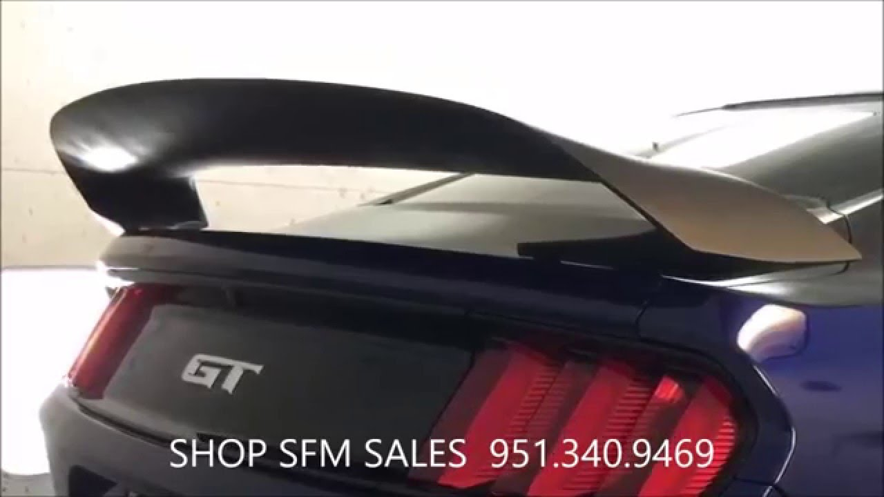ford mustang 2015 gt350r style spoiler youtube. Black Bedroom Furniture Sets. Home Design Ideas