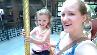 SCARED OF THE CAROUSEL?? | Vlog 7.5.15 | MayMommy2011