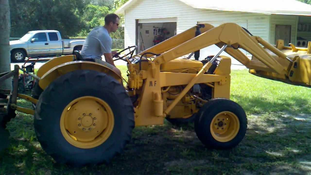 Ferguson 40 Industrial Tractor : Massey ferguson mf running youtube