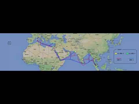 SEA-ME-WE 4 & 5 Submarine Route