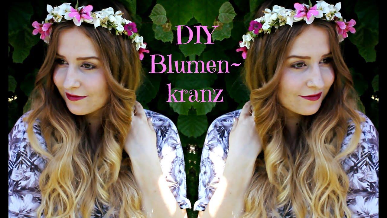 DIY BlumenkranzFlowercrown  schnell  einfach  YouTube
