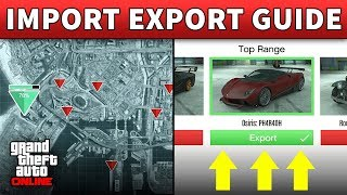 GTA 5 Selling Cars Import Export GTA ONLINE VEHICLE WAREHOUSE GUIDE CEO Import Export Business