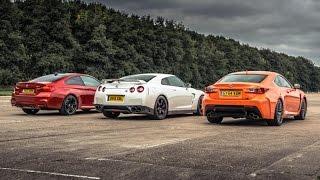 BMW M4 vs Lexus RC-F vs GT-R | Drag Races | Top Gear