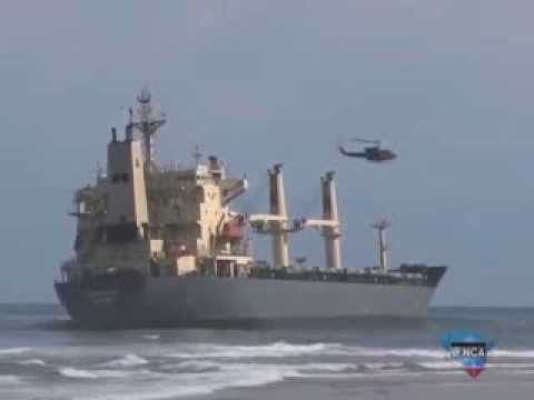 SA marine authority hope to get the leaking Kiani out to sea on Tuesday