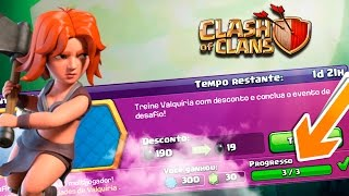 COMPLETEI O DESAFIO MAIS INSANO DO CLASH OF CLANS! FARMANDO MUITO COM VALQUÍRIAS!
