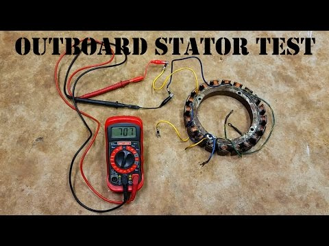 How To Test An Outboard Stator - The EASY Way!