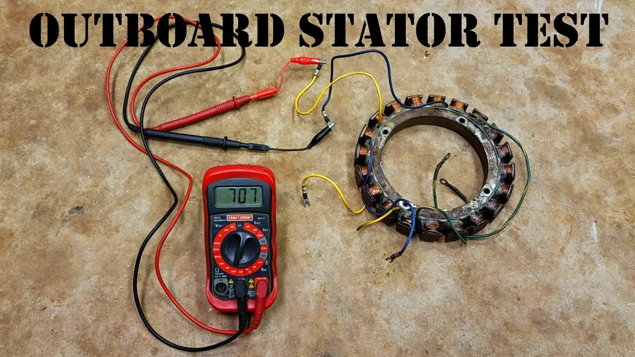 How To Test An Outboard Stator  The EASY Way!  YouTube